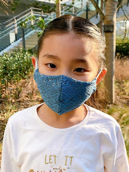 PEAK&PINE洗える水着素材のUVカットマスク