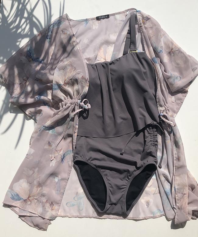 【大きいサイズの水着】EFカップ11LサイズにGカップの水着もお洒落に着られる!おすすめリゾートコーディネート!!